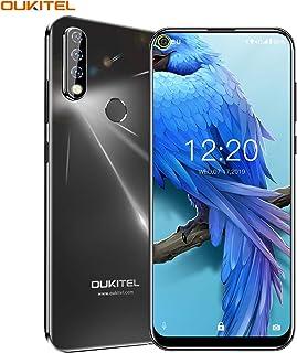 OUKITEL C17 PRO パンチホール エントリースマホ 13MP+5MP+2MP トリプルカメラ搭載 4GB RAM 64GB ROM 6.35インチ HD+ ディスプレイ 3900mAh 大容量 バッテリー MT6763 4G アンドロイド Android 9.0 スマートフォン 指紋認識 顔認証 携帯 本体 au不可 デュアルSIM 一年保証 技適認証済み (4+64GB ブラック)