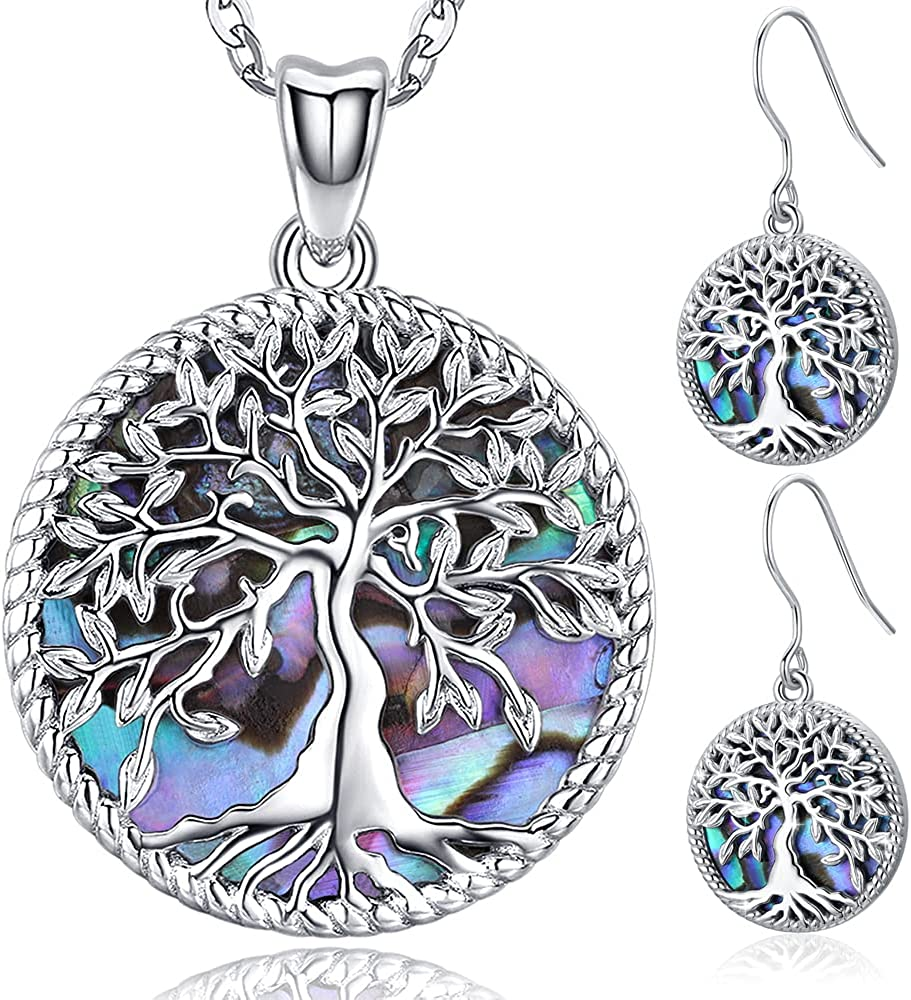 Tree of Life Necklace Max 48% OFF Earrings Jewelry service Sets Sterling Silver Aba