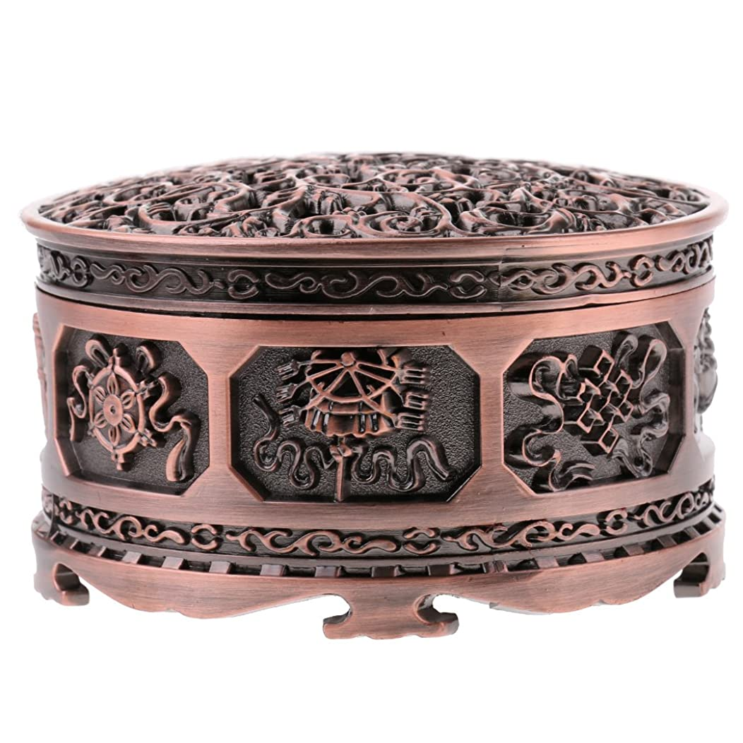 倫理的商品アイドルFenteer チベット 合金 香りバーナー 煙 コーン 香炉 金属 アロマストーブ ホーム 装飾 全3色 - 浓いかっしょく