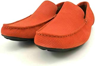 Alfani Mens Kendric Textured Drivers (Orange, 10 M)
