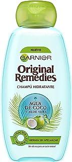 Garnier Original Remedies - Champú Hidratante Agua de Coco y Aloe Vera para Pelo Normal - 300 ml