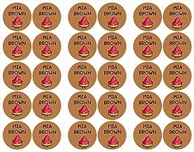 40 etichette di abbigliamento personalizzabili per lasilo e la scuola di diversi colori ETIKIDS TERMO COLORS RACCONTO