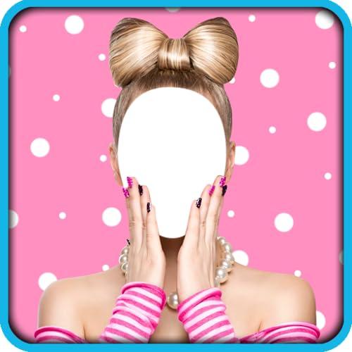 Mädchen-Frisuren-Foto-Montage