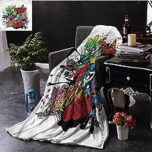 SSKJTC Art Fur Throw Blanket Grafitti Urban Art Underground Dorm Bed Baby Cot Traveling Picnic W80 xL60