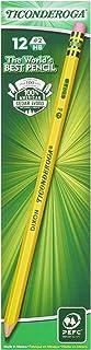 مداد TICONDEROGA ، چوب # 2 HB نرم ، پیش تیز با پاک کن ، زرد ، 12-بسته (13806)