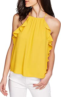 1. STATE Womens Gold Sleeveless Halter Top US Size: L