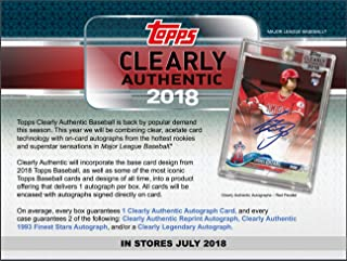 2018 clearly authentic baseball
