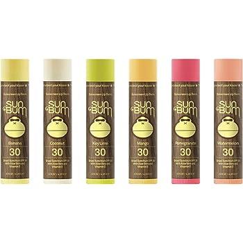 Sun Bum Sunscreen Lip Balm SPF 30 | Vegan & Cruelty Free Broad Spectrum UVA/UVB Lip Care with Aloe & Vitamin E for Moisturized Lips | Banana, Coconut, Key Lime, Mango, Pomegranate, Watermelon | 15 oz
