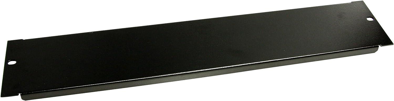 StarTech.com 2U Blanking Panel - Steel Rack Mount Filler Panel - for 19in Server Rack Enclosure or Cabinet - Black Rack Panel (BLANKB2)