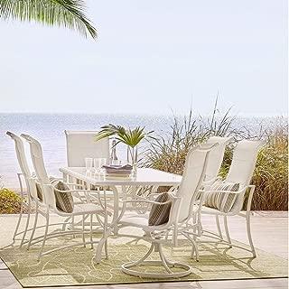 Hampton Bay Statesville Shell 7-Piece Aluminum Outdoor Dining Set