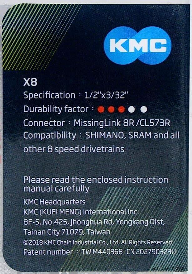 KMC X8.93 MTB //Hybrid Road Bike 6 7  8 Speed Chain fit Shimano SRAM Campagnolo
