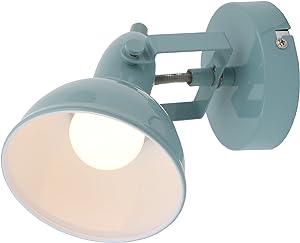 Briloner Leuchten–Lampe murale, spot mural avec double bras rotatif et pivotant Spot au design rétro/vintage, culot: E1440W max, métal, dimensions: 15,6x 10cm, couleur: Menthe/Blanc