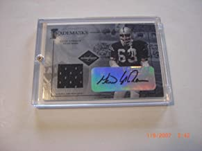 Gene Upshaw Raiders 2005 Limited Game Used Jersey Auto 43/50 Signed Card - Football Game Used Cards