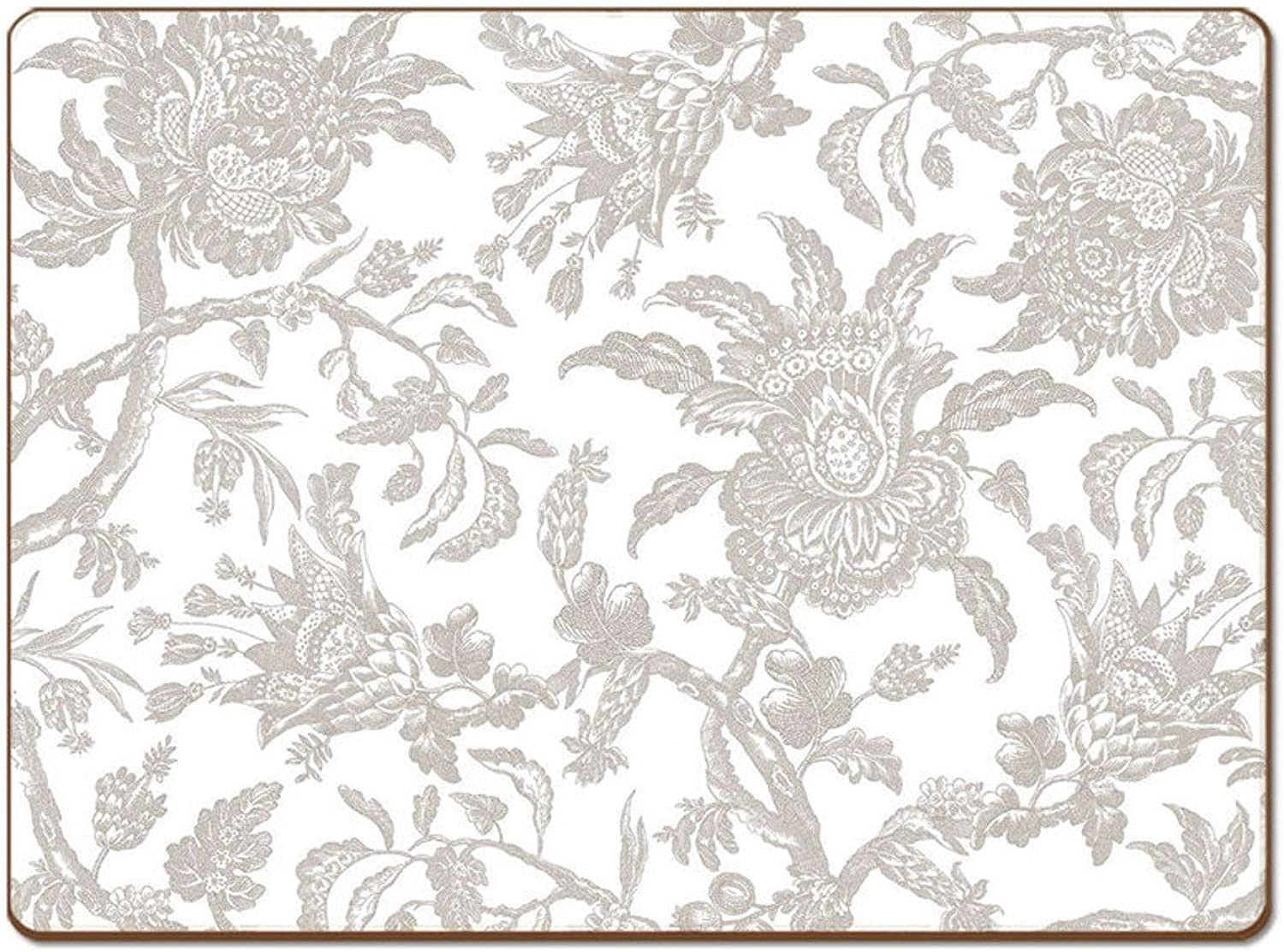 Cala Home 4 Premium Hardboard Placemats Table Mats, Arcadia Mist 81849