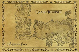 Pyramid America Game of Thrones Antique Map Westeros Essos HBO Medieval Fantasy TV Television Series Cool Wall Decor Art Print Poster 18x12