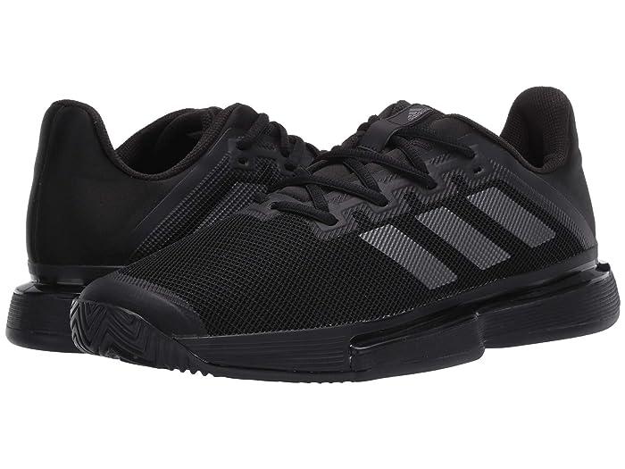 adidas  SoleMatch Bounce (Core Black/Night Metallic/Core Black) Mens Tennis Shoes