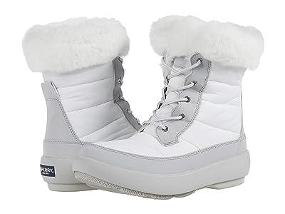 Sperry Bearing PlushWave Boots Nylon (Off-White/Grey) Women
