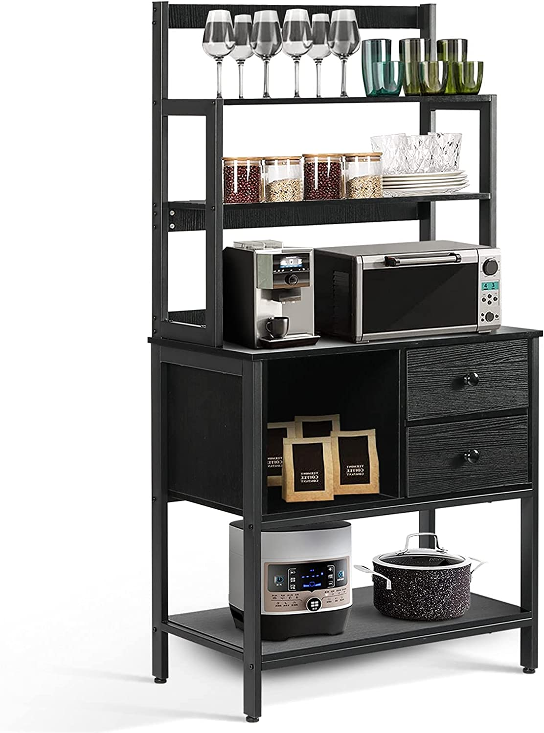 6-Tier Kitchen Bakers Rack Popular product with Storage Bar Coffee 2 Table Tucson Mall