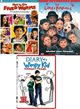 School & Mischief Boys Pack Diary of a Wimpy Kid Rodrick Rules + How to Eat Fried Worms & Little Rascals Movie DVD Film Favorites Triple adventure Family feature Bundle