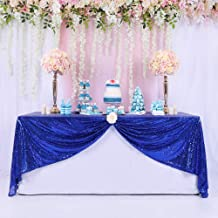 BalsaCircle TRLYC Sequin Tablecloth Home Wedding Event Party Banquet Decoration, Royal Blue, 60