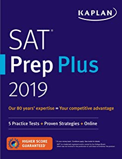 SAT Prep Plus 2019: 5 Practice Tests + Proven Strategies + Online (Kaplan Test Prep)