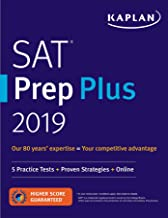 SAT Prep Plus 2019: 5 Practice Tests + Proven Strategies + Online