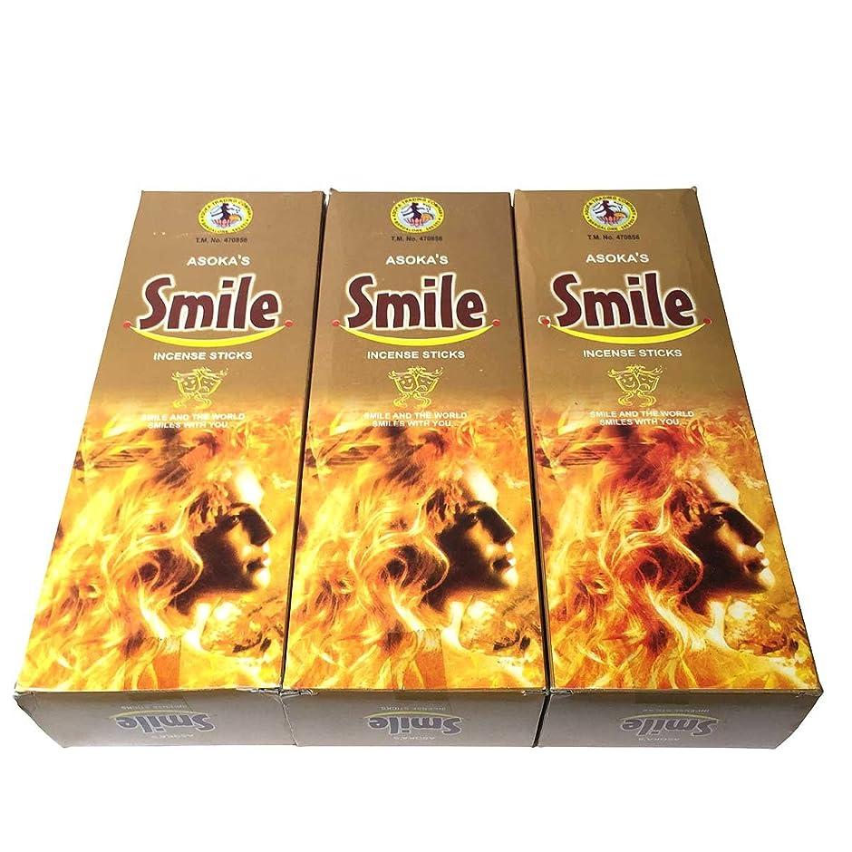 常習者黒くするのどスマイル香スティック 3BOX(18箱) /ASOKA TRADING SMILE/インセンス/インド香 お香 [並行輸入品]
