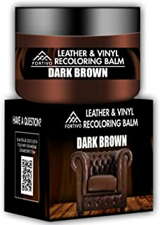 Best Dark Brown Leather Recoloring Balm - Leather Repair Kits for Couches - Leather Restorer for Couches Brown Car Seat, Boots - Cream Leather Repair for Upholstery - Refurbishing Dark Brown Leather Dye Review