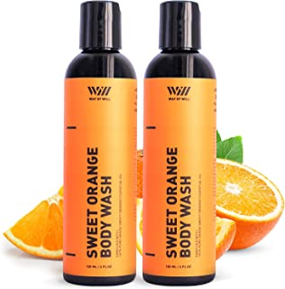 Sweet Orange Body Wash, Moisturizing Body Wash with Sweet Orange Essential Oil, Body Wash for Women and Men, Paraben and S...
