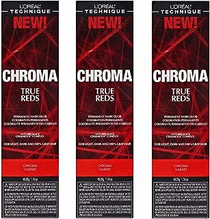 L'Oreal True Reds Chroma Garnet Permanent Hair Color Tint HC-22915 (3 Pack)
