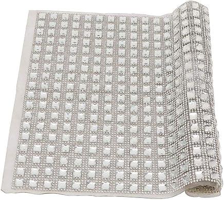 9.5 X 15.7 Pulgadas Rhinestone Hoja de Malla DIY Hotfix Crystal Strass Malla Bandas Etiqueta Nupcial Apliques Hoja para Arte de Traje de Fiesta de Boda