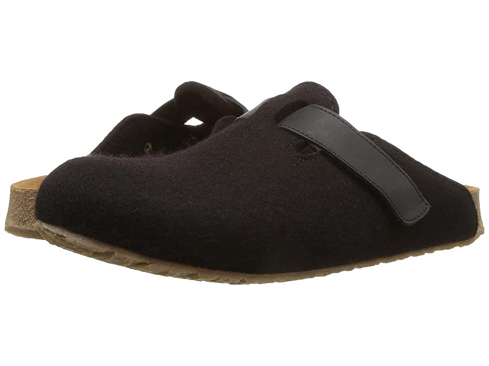 Haflinger Bio Kurt Velcro Felt (Black) Clog Shoes