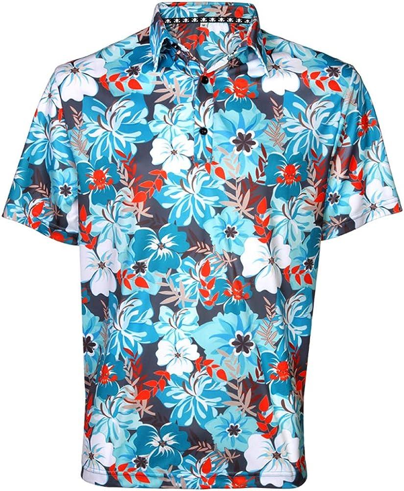 TattooGolf Hawaiian Print ProCool Men's Ranking TOP1 Cheap Shirt Golf