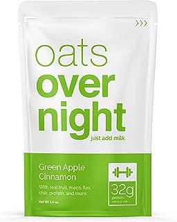 Oats Overnight - Green Apple Cinnamon - Premium High-Protein, Low-Sugar, Gluten-Free (3oz per pack) (12 Pack)