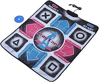 USB Dance Pad, Electronic Musical Playmat Toys USB PC Dancing Mat Pad Dancer Blanket Dancing Step Durable Wear‑Resistant P...