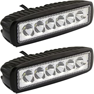 Led Light Bar, Senlips 2x 18W Spot Light Led Lights Fog Light IP 67 Waterproof for Off-road Vehicle, ATV, SUV, UTV, 4WD, Jeep, Boat- Black