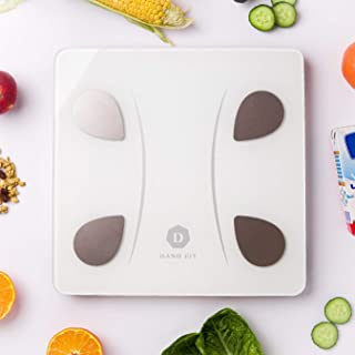 DanoFit Bluetooth Body Fat Scale, Smart Wireless BMI Weight Scale Body Composition Monitor Health Analyzer with Smartphone...