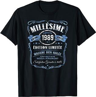 Millésime Fabriqué en 1989 - 32e Anniversaire Vintage Retro T-Shirt