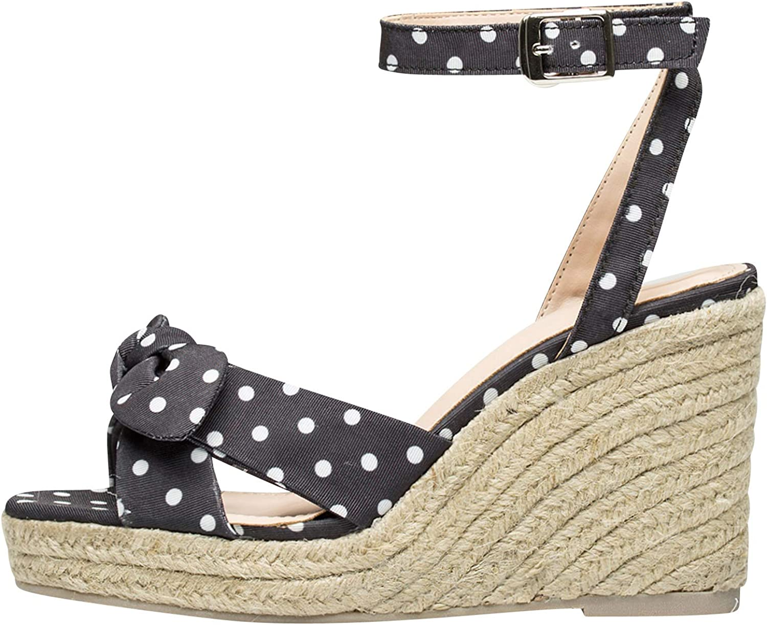 AnnaKastle Womens Bow Knot Espadrilles Wedges Sandal