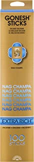 Gonesh Extra Rich Collection Nag Champa – 100 Stick Pack-Incense