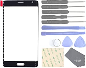 VEKIR Cell Phones Replacement Parts for Samsung Galaxy Note Edge N915FY N915A N915T N915K N915G N915D Outer Glass Screen Panel[NO LCD,NO Touch](Black)