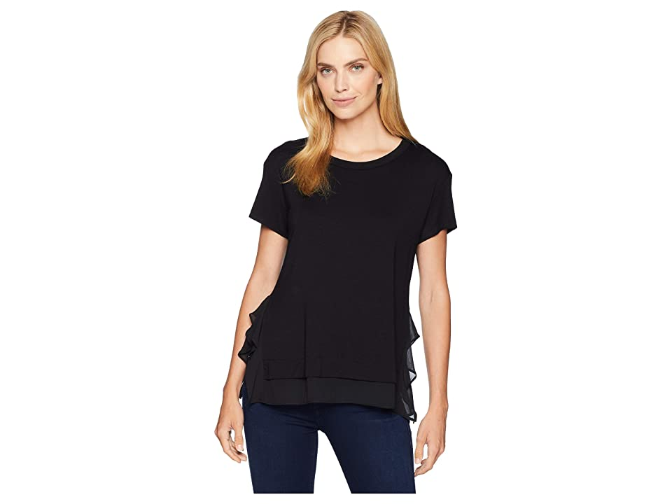 Karen Kane Sheer Hem Top (Black) Women