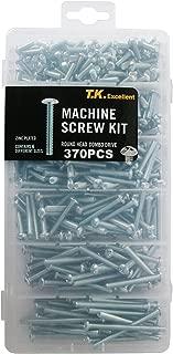 T.K.Excellent Machine Screw Round Head Combo Drive #8x1/2 to #8x2 Assortment Kit,370 Pcs