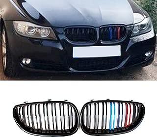 Fandixin E60 Grille, Carbon Fiber Front Kidney Grill Front Bumper Hood Grill for BMW 5 Series E60 E61 520i 523i 525i 528i 530i 535i 540i 545i 550i