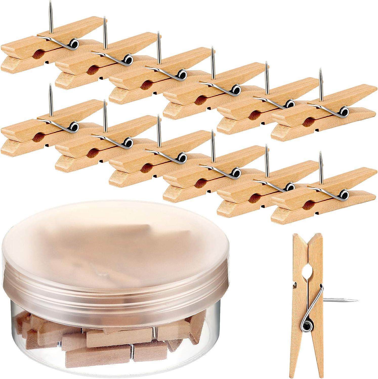 Wooden Clips Push Max 72% OFF Pins Crafts fo Tacks SEAL limited product Pushpin