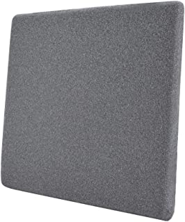 Amazon Basics - Cojín viscoelástico para asiento, gris, cuadrado