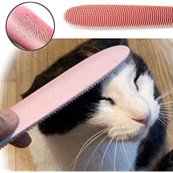 Blackhole Real Cat Tongue Textured Grooming Brush, Best Nurturing Brush for Kitten Dual-Ended Brush for Small and Large Area