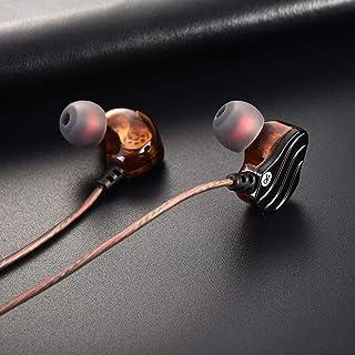 Henwave KD4 Auriculares con Cable Dual Driver Bass Sound Auriculares intrauditivos con micrófono...