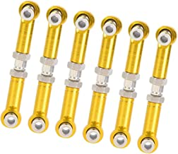 Lange levensduur 6 stuks Rc auto-onderdelen Hoogwaardige metalen trekstang voor een betere controle over hogesnelheidsaut...
