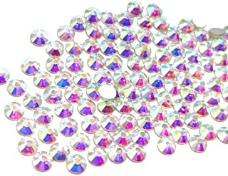 1440pcs 20ss 5mm Rhinestones Nail Crystals AB Nail Art Rhinestones Round Flatback Glass Gems Stones Beads for Nails Decoration Crafts Eye Makeup Clothes Shoes Vases (1440pcs SS20)